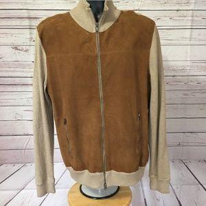 Vtg Banana Republic Mens sz L Leather Jacket